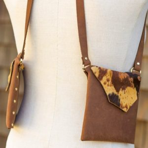 BROWN & BROWN CALF- Leather small stylish purse
