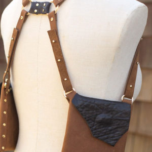 BROWN & BLACK SHEEP- Fashionable leather purse